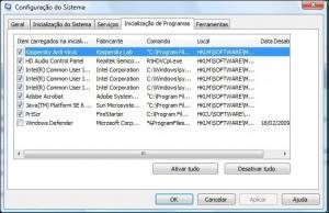 computador lento - remover programas inicialização