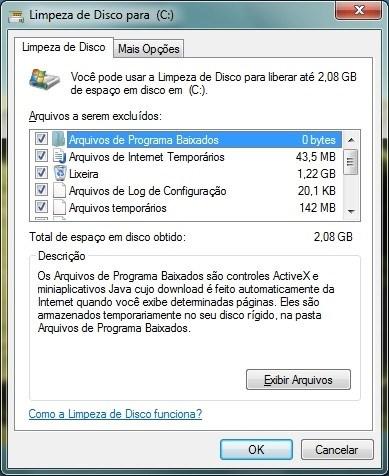 computador lento - limpeza de disco