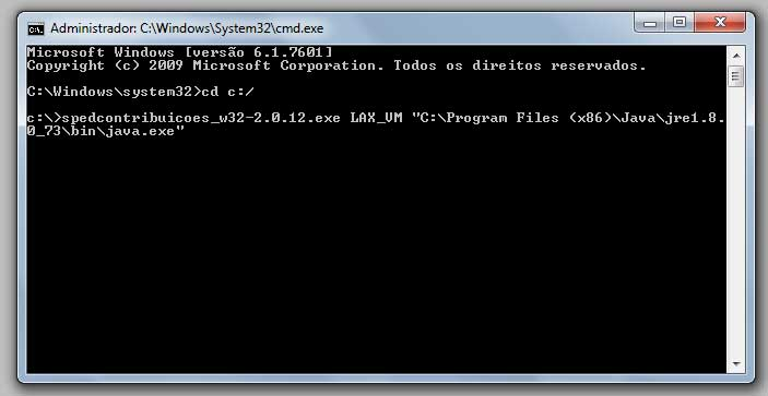 Erro 2 do Windows ao carregar o Java VM