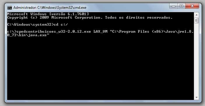 Erro 2 do Windows ao carregar o Java VM