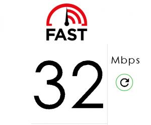 Medidor de velocidade da Netflix Fast.com