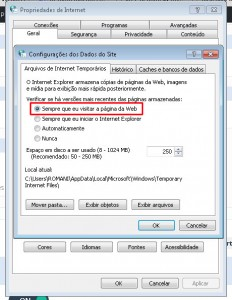 coleta web internet explorer