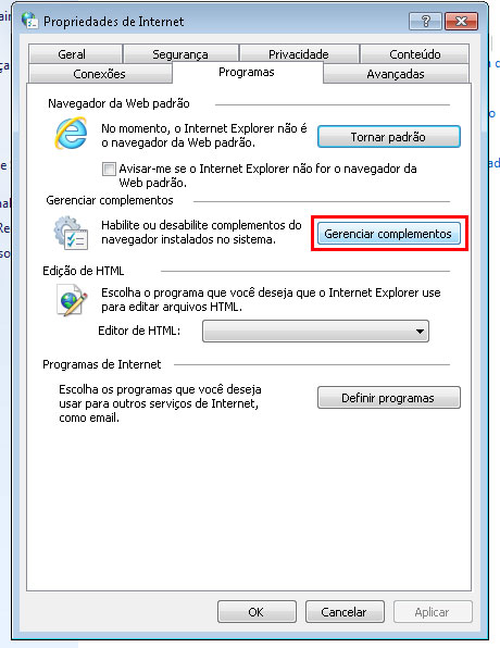 coleta web internet explorer