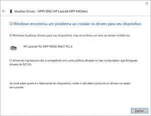 windows 10 não reconhece impressora hp